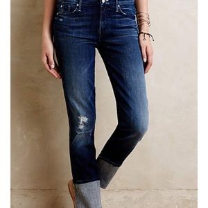 Mother ponyboy distressed ankle jeans size 29